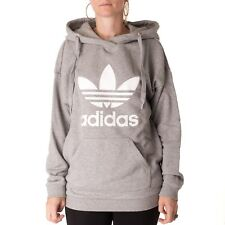 ADIDAS Trefoil SUDADERA CON CAPUCHA mujer jersey capucha, gris, 33287