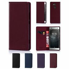 32nd Classic Series - Real Leather Book Wallet Case Cover Sony Xperia XA2 Ultra