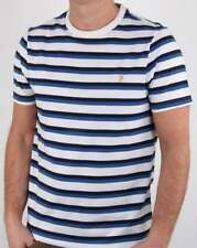 Farah Factory Striped T Shirt in Navy & White - breton short sleeve tee