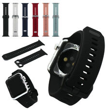 Pattern Silicone Replacement Watch Strap Band for Apple iWatch 38mm 42mm