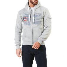 Geographical Norway Fohnson_man_bgrey-black sweat-shirt pour homme Gris FR