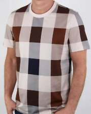 Aquascutum Kenneth Large Club Check T Shirt in Vicuna - short sleeve tee