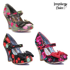 Irregular Choice Fancy This Women Black Red Mary Jane High Heel Shoes