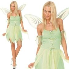 VERDE NEVERLAND Costume da fata donna FIABE Book Week Vestito xs-x