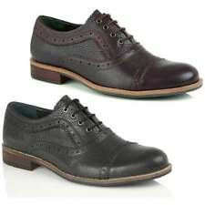 Silver Street London Albany Mens Leather Smart Oxford Laced Brogues Office Shoes