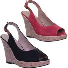 Justin Reece Peep Toe Wedge Ankle Strap Suede Size UK 3 - 8