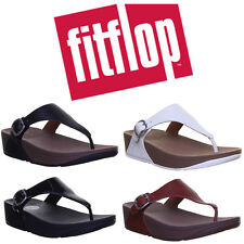 FitFlop The Skinny  Leather Toe-Post Dark Tan Size UK 3 - 8