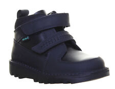 Kickers Kick Stomper Infants Leather Back To School Shoes Boot Black Size UK 8 -