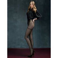 Collants noirs motifs effet bas Fiore Mystery sexy