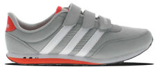 Adidas Neo V Racer CMF Kids Touch Fastening Grey Mesh Casual Trainers Shoes