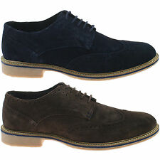 hommes Roamers cuir daim chaussures brogues taille UK 6 - 12 à lacets