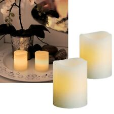 Set de dos led velas cera real 65x48mm INTERMITENTE LEDs sin llama Centelleante