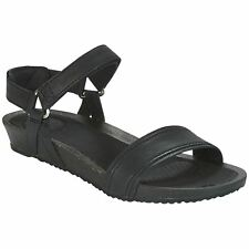 Teva Ysidro Stitch Black Womens Leather Slingback Casual Strappy Sandals
