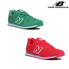 New Balance KJ373VGY Youth Suede Green Trainers