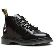 Dr.Martens Church Stud Black Womens Patent Lamper Lace-up Ankle Boots