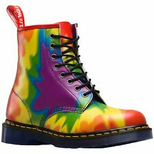 Dr.Martens 1460 Pride 8-Eyelet Multi Womens Backhand Leather Combat Ankle Boots