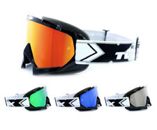two-x RACE Gafas de cross Enduro Gafas de Motocross Gafas de espejo SOLID NEGRO
