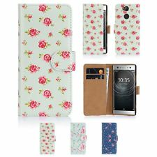 32nd Floral Series - PU Leather Book Wallet Case Cover For Sony Xperia XA2 Ultra