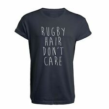 Rugby Hair, Don't Care - Unisex T Shirt