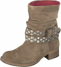 Shoot Zapatos sh-13512 rockera Cuero Dolly Botas Gris Topo / BEIGE