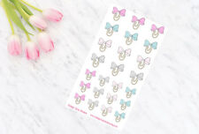 Road Trip Bow Clips Functional Planner Stickers for all Planner Types UK