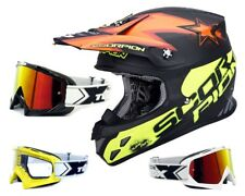 SCORPION vx-20 AIRE MAGNUS CRUZ Casco MX naranja neon incl. two-x