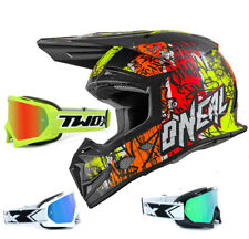 Oneal 5 Series CASCO CROSS Vándalo Naranja Neón Amarillo con two-x RACE MX Gafas