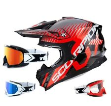 Scorpion VX-15 Evo Air Casco da Cross Sin Nero Two-X Race Mx Occhiali
