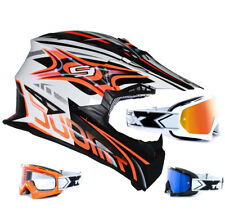 SUOMY CASCO CROSS RUMBLE visión NARANJA two-x RACE MX Gafas de Motocross enduro