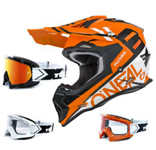 Oneal 2series RL CASCO CROSS spyde NARANJA CON two-x Carrera Gafas Mx Motocross