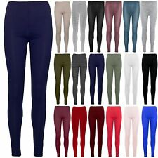 Ladies Womens Plain Trousers Crepe Ankle Full-Length Slim Fitted Pants Legging