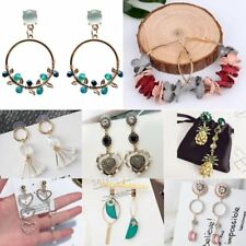 Boho Tassel Pearl Heart Circel Long Dangle Drop Hook Ear Stud Earrings Jewellery