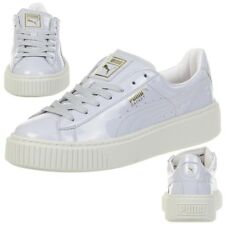 Puma Basket Platform Patent Sneaker Women's Girls' Shoes 363314 01