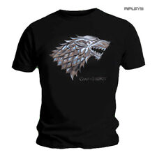 Official T Shirt Game of Thrones Direwolf House Sigil CHROME Stark All Sizes