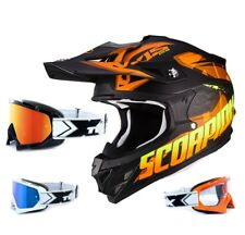SCORPION vx-15 EVO AIR CASCO CROSS DEFENDER NARANJA NEGRO two-x RACE Gafas de