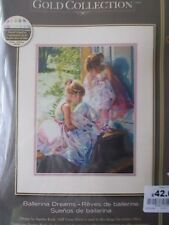 """Cross stitch Kit Gold Collection """"Ballerina Dreams """" New by Dimensions 11"""" x 14"""""""