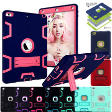 Heavy Duty Kids Duty Shockproof Rubber Lot Stand Hard Case Cover for Apple iPad