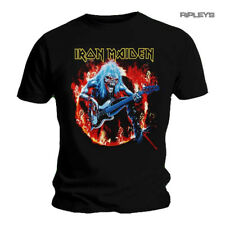 Official T Shirt IRON MAIDEN Metal Eddie Guitar 'Fear Live Flames' All Sizes