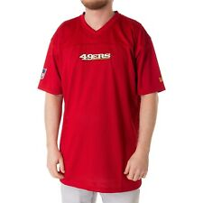 New Era NFL San Francisco 49ers Hommes T-shirt maille jersey chemise rouge 33958