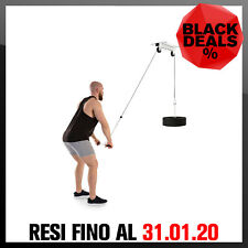 Lat Machine Pulley Soffitto Palestra Allenamento Workout Fitness Body BIANCO