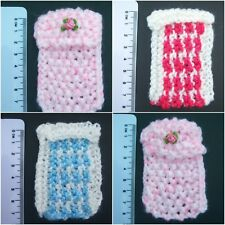 Handmade Miniature 1/12th scale dolls house KNITTED BLANKET - various