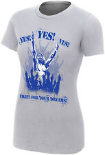 WWE DANIEL BRYAN Fight For Your Dreams Yes! Yes! Yes! WOMENS GIRLIE T-SHIRT