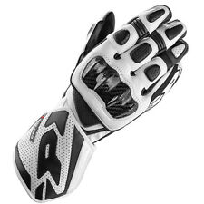 Spidi CARBO 1 moto cuir RACING SPORT Carbone Gants - Noir Blanc
