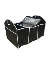 Car Boot Organiser w Thermo Section Shopping Tidy Collapsible Foldable Storage