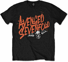 AVENGED SEVENFOLD Orange Splatter Band Logo T-SHIRT OFFICIAL MERCHANDISE