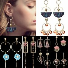 Boho Geometric Round Tassel Dangle Drop Ear Stud Hook Earrings Jewellery Gift