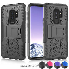 For Samsung Galaxy S9 Plus Shock Absorbing Kickstand Armor Protective Case Cover