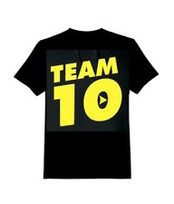 Kids TEAM 10 Inspired Logan Jake Paul Logang Youtuber black TSHIRT  gold print