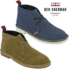 Ben Sherman Desert Boots Suede Leather Lace Ankle Fashion Mens Casual Shoes