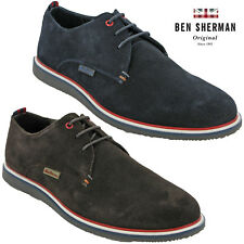 Ben Sherman Casual Shoes Suede Leather Work Mens Flat Fashion Trainers Lace